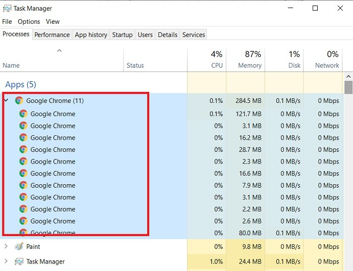 How to stop multiple Chrome processes from running in Task Manager