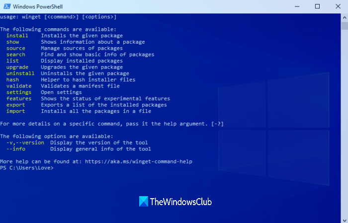 update programs windows package manager