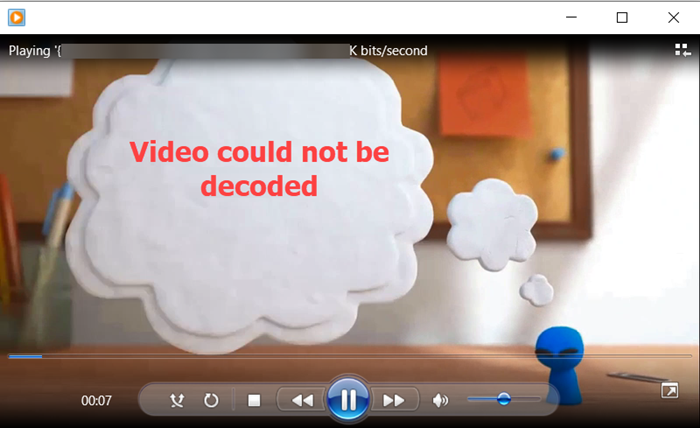 Video could not be decoded