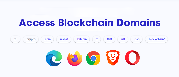 Access Blockchain Domains on Various browsers