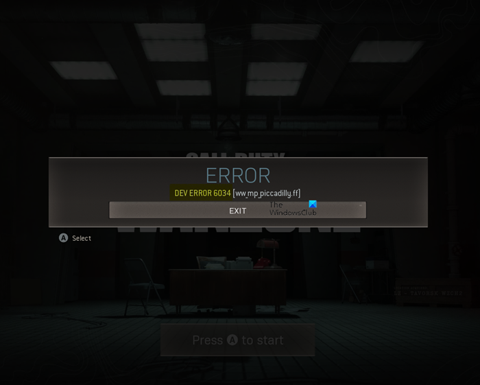 How to fix the Dev Error 6034 in Call of Duty, Modern Warfare and WarZone