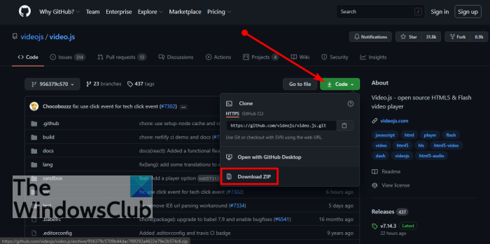 How to view code and download files from GitHub