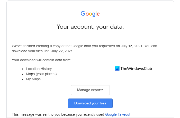 Download the Google Maps Data