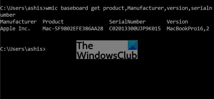 Find Motherboard Model No Command Prompt WMIC