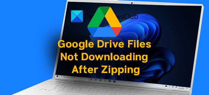 Google Drive Files Not Downloading After Zipping