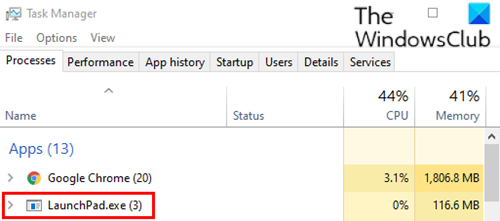 Quit third-party game launcher via Task Manager