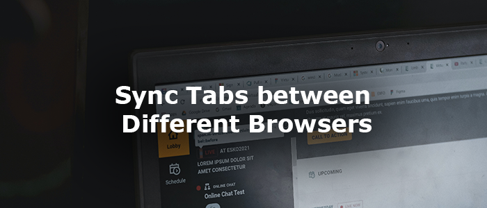 Sync tabs between different browsers