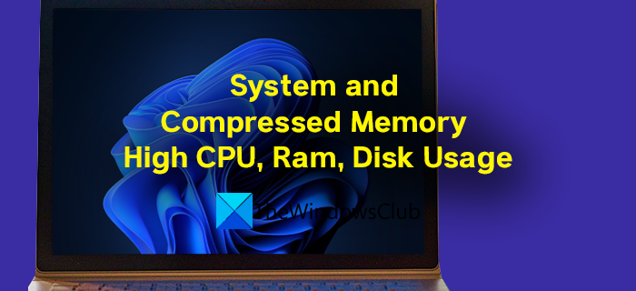 System and Compressed Memory High CPU, Ram, Disk Usage