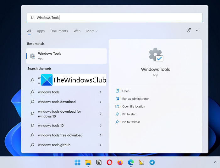 Windows Tools Search