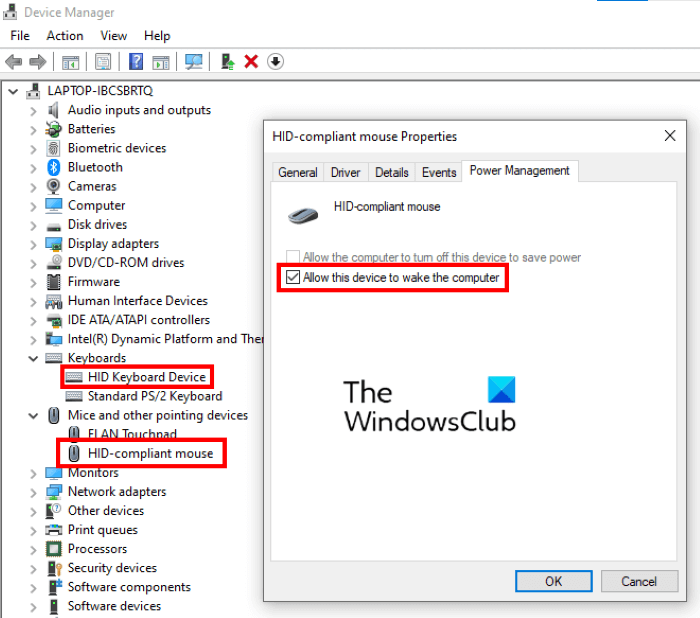 allow device to wake computer
