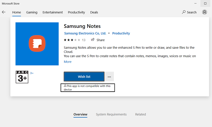 How to install Samsung Notes on Windows
