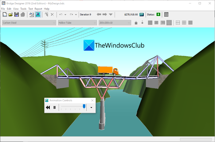 How to Design and Analyze Bridge Structures in Windows 11/10