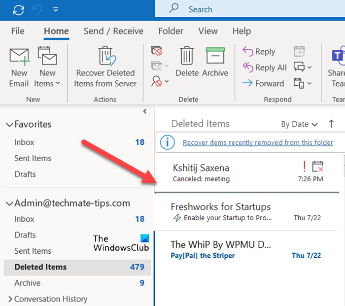 Accept a declined meeting invitation in Outlook