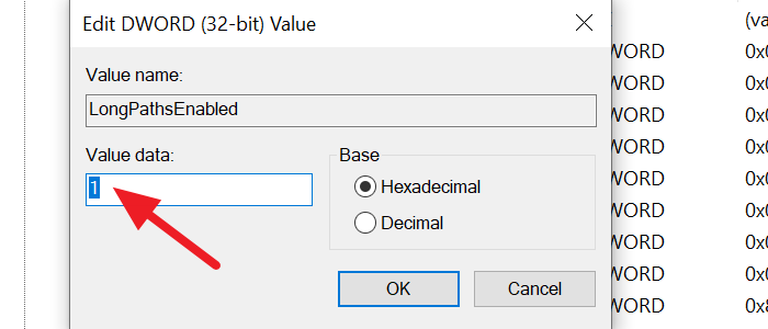change values in DWORD