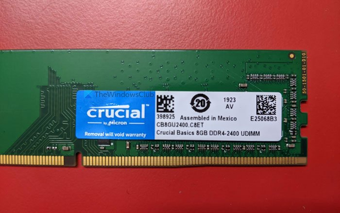 How to check RAM speed on Windows 11/10