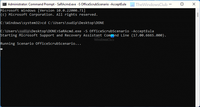 command-line version of Microsoft Support and Recovery Assistant