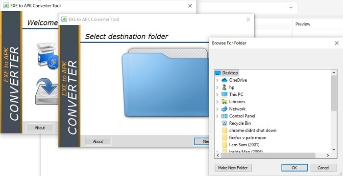 How to convert EXE file to APK file to run on Android
