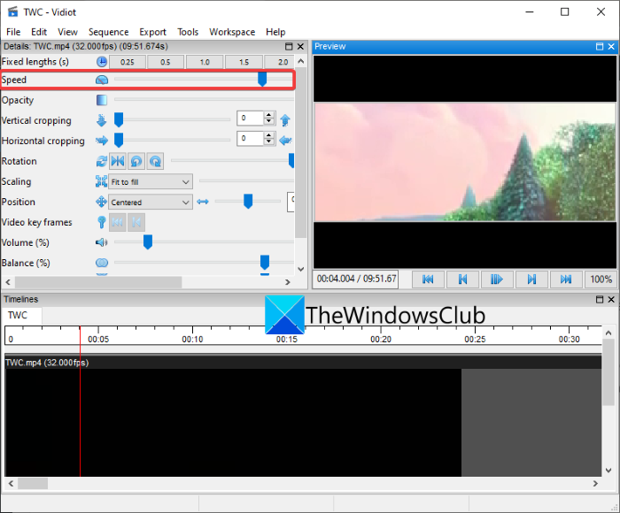 How to speed up a video and make it faster in Windows 11/10