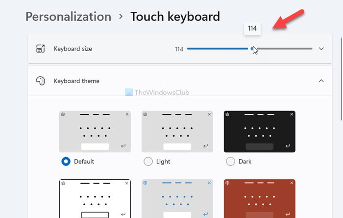 How to customize Touch keyboard on Windows 11