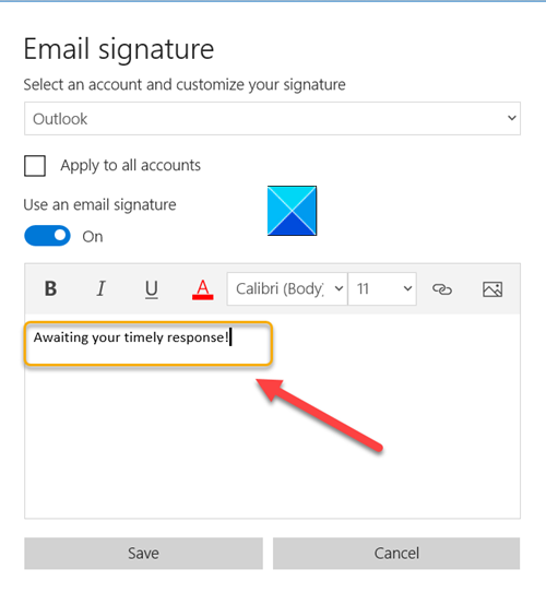 How to edit the Mail App Signature in Windows 10