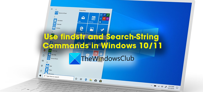 findstr and search-string windows
