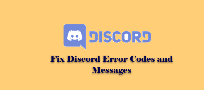 Fix Discord Error Codes and Messages