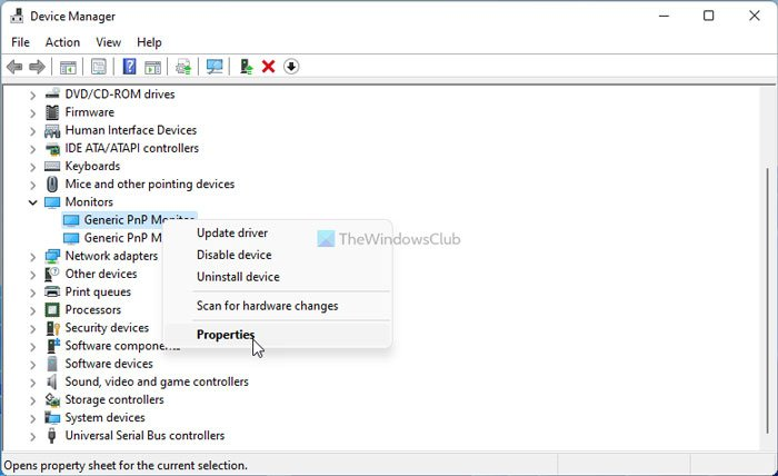 Fix Generic PnP Monitor not detected issue on Windows 11/10