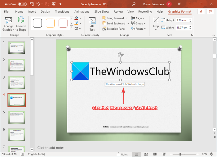 How to Create a Mouseover Text Effect in Microsoft PowerPoint