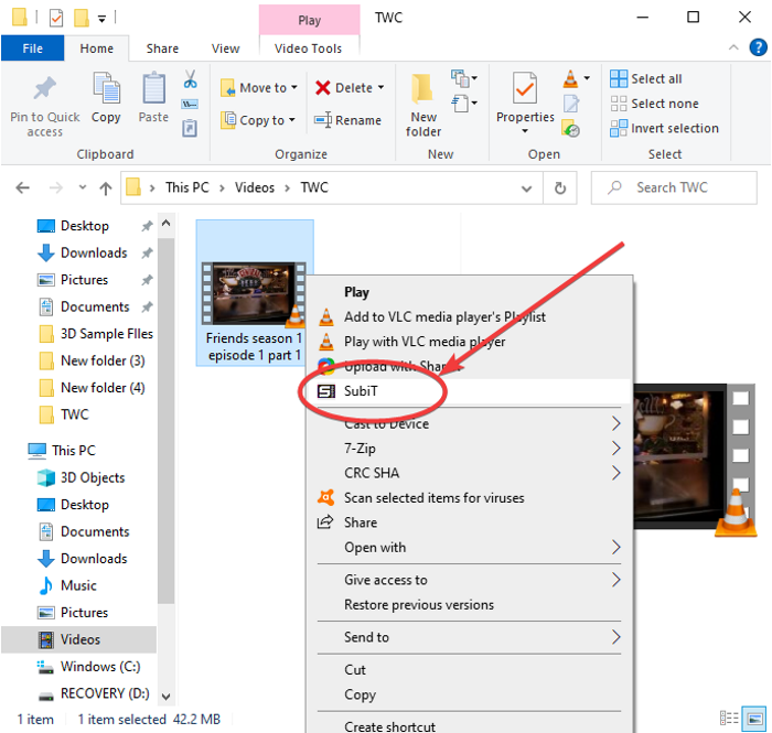 How to Download Subtitles for Movies from right-click context menu in Windows 11/10