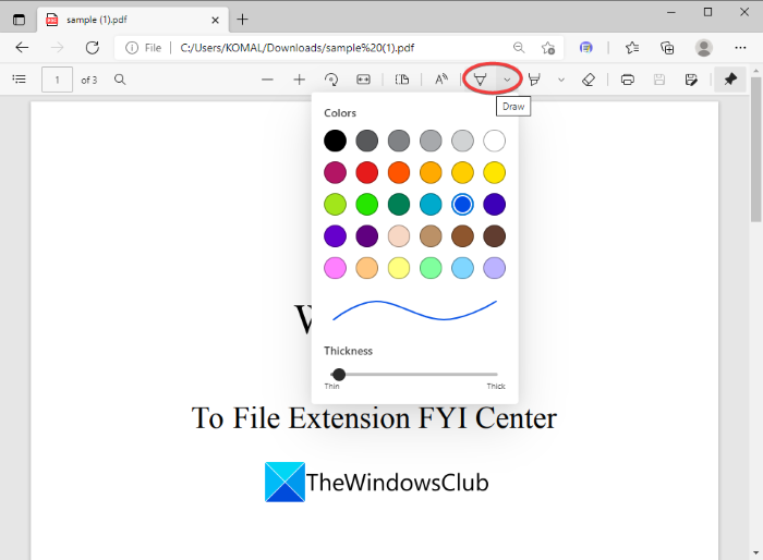 How to Sign a PDF document in Microsoft Edge