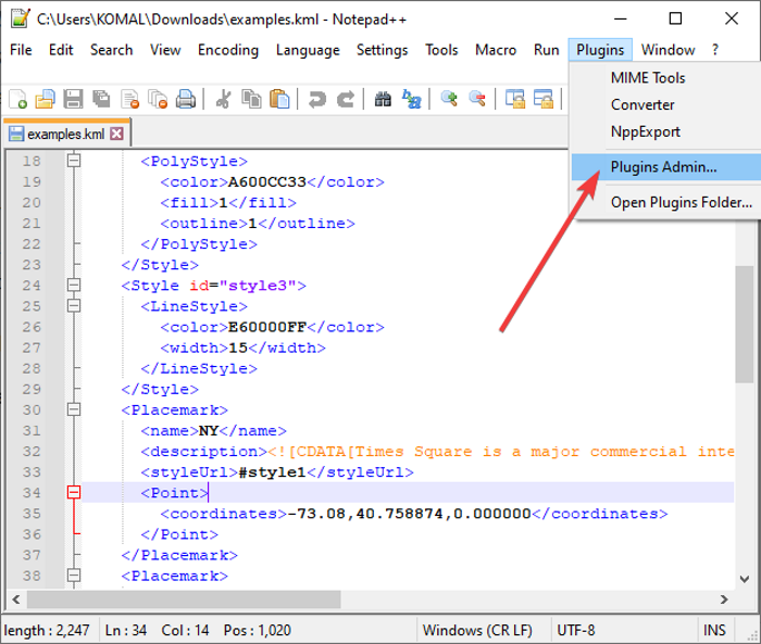 How to validate XML against XSD in Notepad++