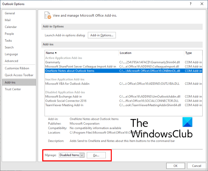 link outlook to onenote