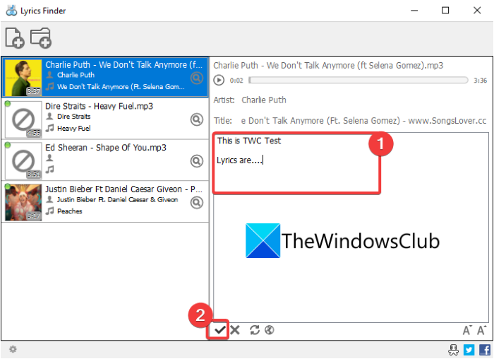 How to Embed Lyrics to MP3 files in Windows 11/10