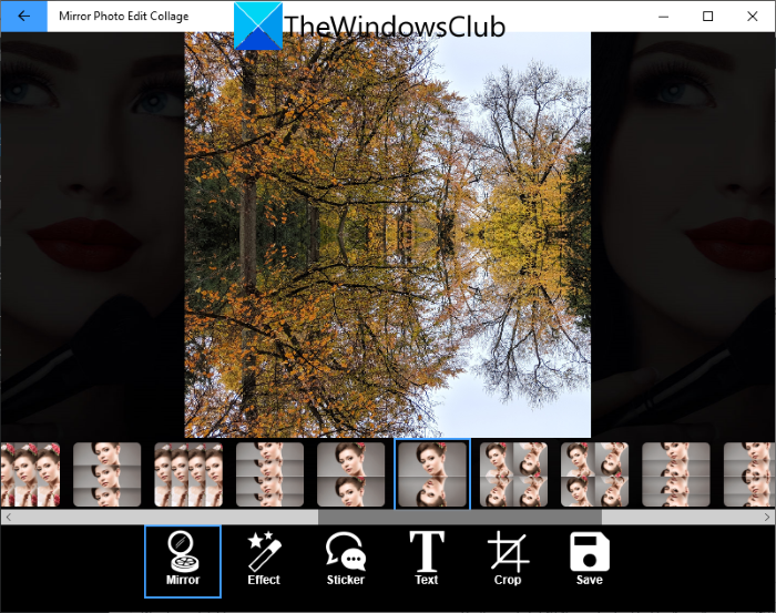 How to add Mirror Image Effect in Windows 11/10