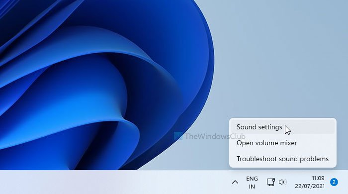 How to open old Sound settings panel in Windows 11