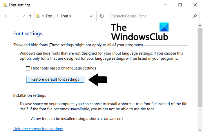 How to fix corrupted Fonts in Windows 10