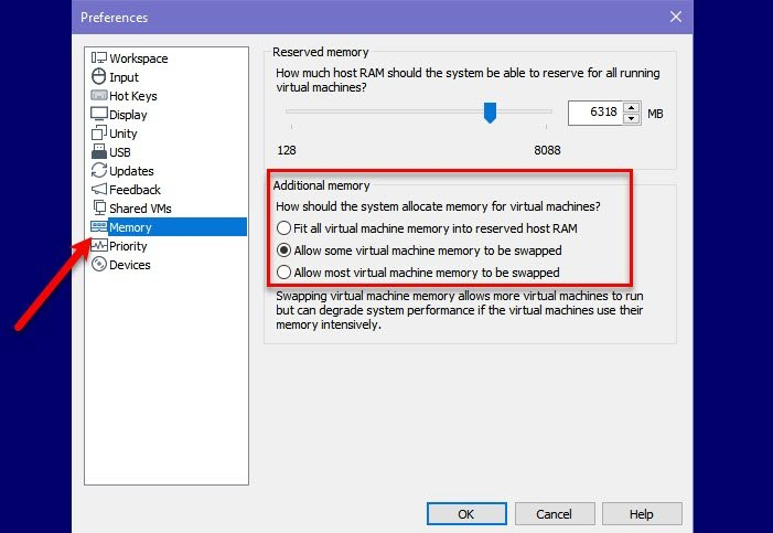Fix Not enough physical memory is available VMware error