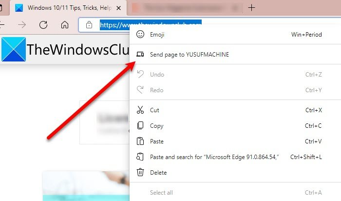 How to send Tabs to other devices with Microsoft Edge
