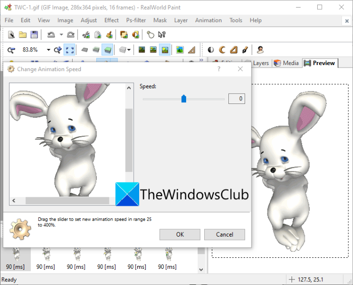 How to Speed Up or Slow Down GIF in Windows 11/10