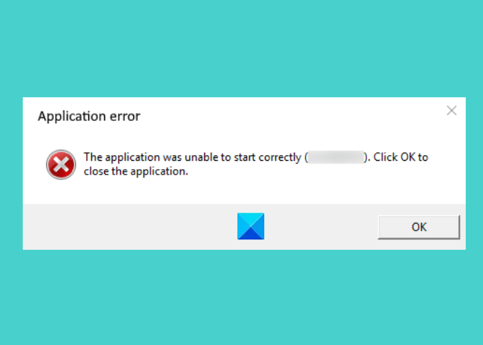 the application was unable to start