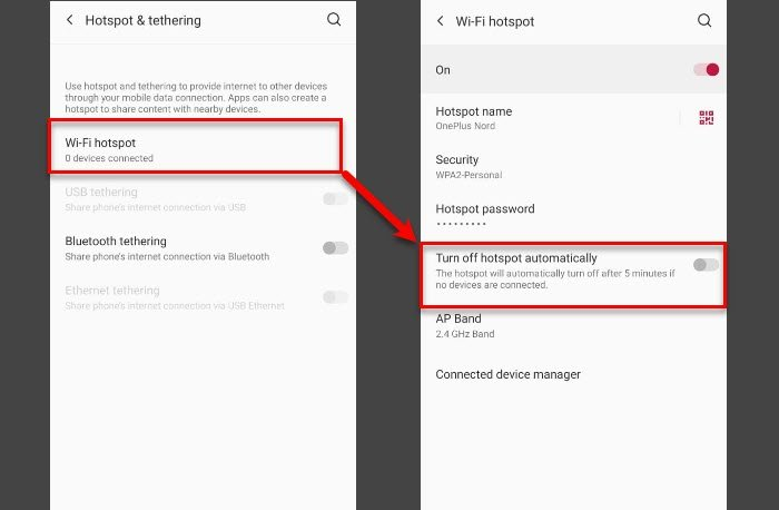Mobile Tethering Internet keeps disconnecting on Windows 10