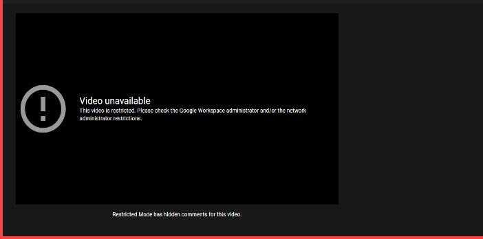 This Video is restricted. Please check the Google workshop administrator on YouTube