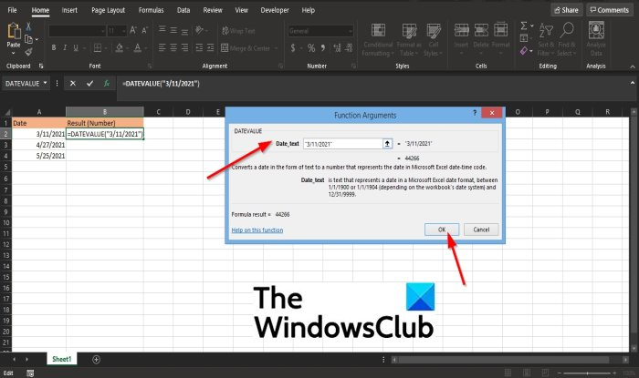 How to use the DATEVALUE function in Excel