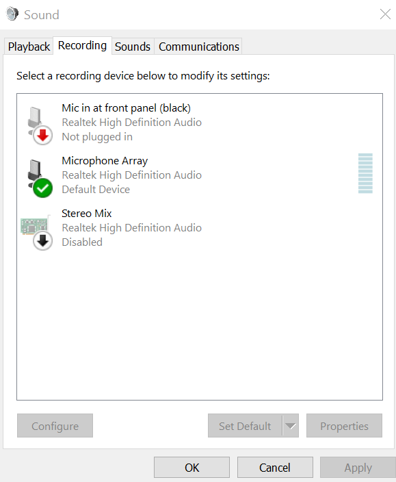 Fix Microphone not plugged in Windows