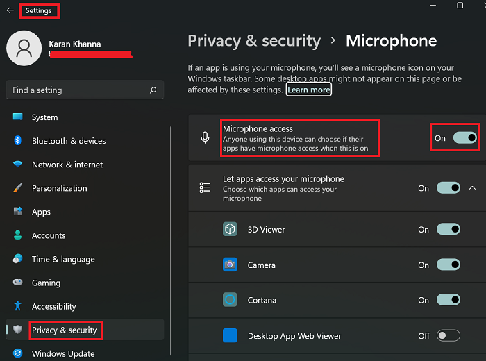 Fix Microphone not plugged in Windows 11/10