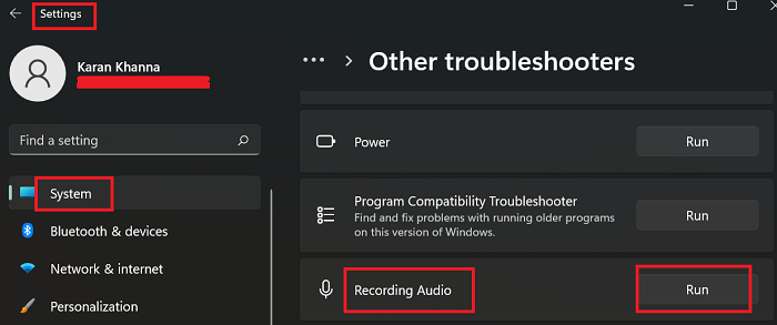 Microphone not plugged in Windows 11