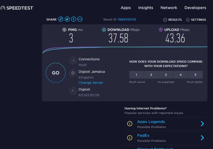 Check if your Internet Connection supports 4K content streaming