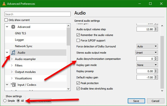 How do I fix Audio Delay in VLC Media Player