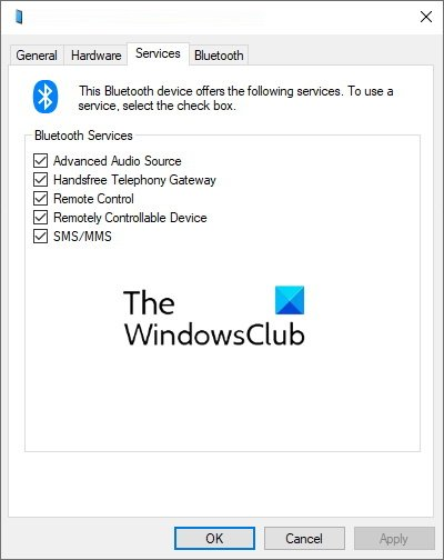 disable the Remote Control property Bluetooth