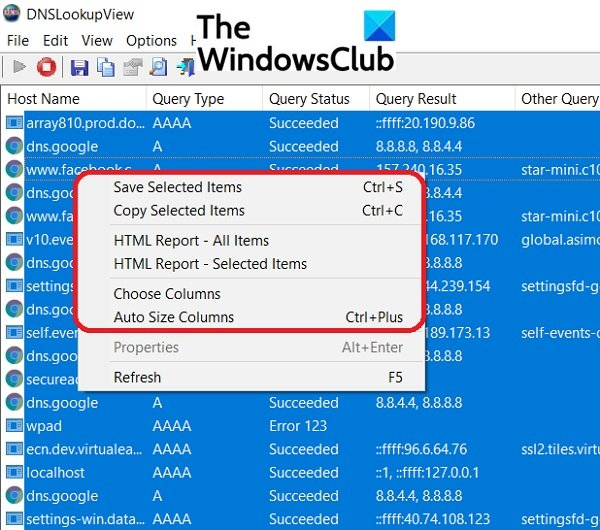 DNSLookupView is a free DNS Lookup Tool for Windows computers